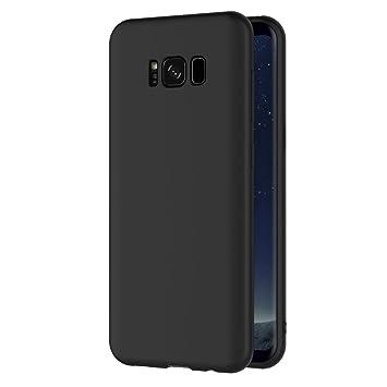AICEK Funda Compatible Samsung Galaxy S8 Plus, Negro Silicona Fundas para Galaxy S8 Plus Carcasa S8 Plus (6,2 Pulgadas) Negro Silicona Funda Case
