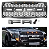 Seven Sparta Front Grill for F150 2009-2014 Raptor Style Grille for Ford, Gray