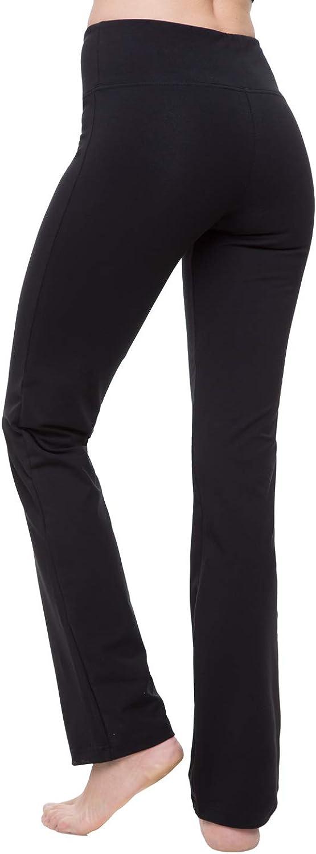NIRLON Straight Leg Yoga Pants High Waist Leggings for Women Regular & Plus Size