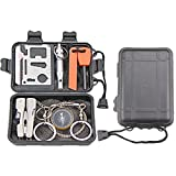 Survival Kit EMDMAK Outdoor Emergency Gear Kit for Camping...