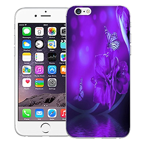 """Mobile Case Mate iPhone 6 Plus 5.5"""" Silicone Coque couverture case cover Pare-chocs + STYLET - Water Flower pattern (SILICON)"""