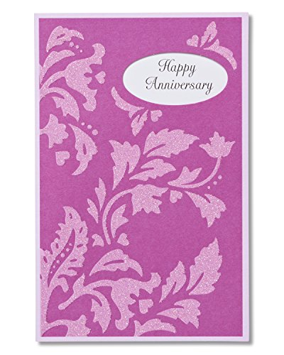 American Greetings Congratulations Anniversary Card for Couple with Glitter