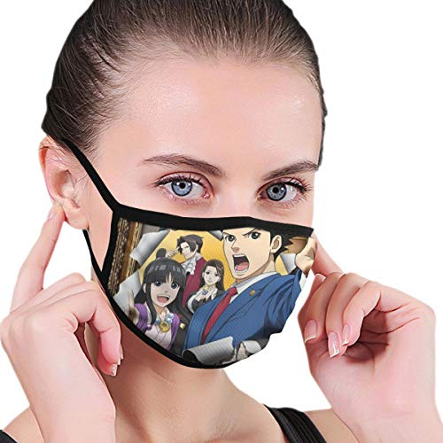 Dean Carnegie A-ce Att_orney Face Mask Adjustable Mouth Mask Anti Dust Face Mouth Mask Reusable Mask for Cycling Camping Travel