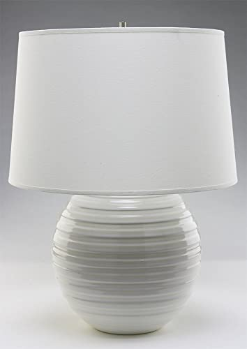 Haeger Potteries White Ceramic Centrifugal Table Lamp Amazon Com