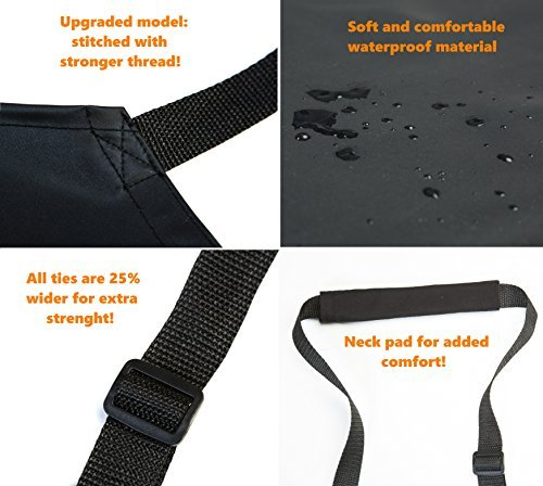 Waterproof Rubber Vinyl Apron - Upgraded 2018 Heavy Duty Model - Best for Staying Dry When Dishwashing, Lab Work, Butcher, Dog Grooming, Cleaning Fish, Projects - Industrial Chemical Resistant Plastic by Aulett Home (Image #4)