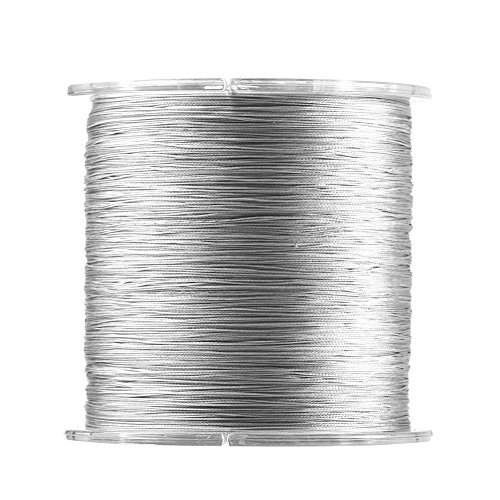 Fishing Line Wire Fish Rope Cord PE Superbraid Fish Line Kevlar String Thread Line 500m 8 Strands Abrasion/Water Resistance Paracord for Saltwater& Freshwater Fish Grey (1) 100% Kevlar String