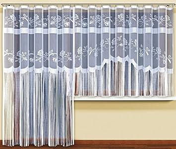 Amazon.de: String Netz Vorhänge Fertig Zum Aufhängen weiß, 2 Größen ...