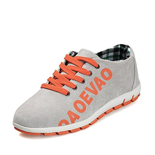 Sports Cricket Leisure Flat Shopping Gray Lace Fashion Heel Shoes Women up Athletic Shoes and Easy Go Men's 6qwP67R