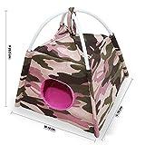 Brown Sugar Pet Store Fun Tent for Sugar Glider - Loris - Marmoset - Squirrel Camouflage-Pink Color