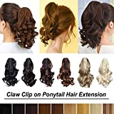20 Colors Synthetic Claw Ponytail Long and Short Cute Clip in Pony Tail Hair Extension Handy Jaw One Piece Straight Wavy 12'' 18'' 21'' 24'' 26''