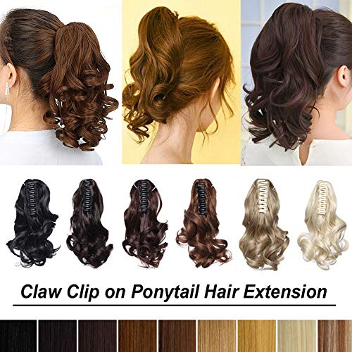 (20 Colors Synthetic Claw Ponytail Long and Short Cute Clip in Pony Tail Hair Extension Handy Jaw One Piece Straight Wavy 12'' 18'' 21'' 24'' 26'')