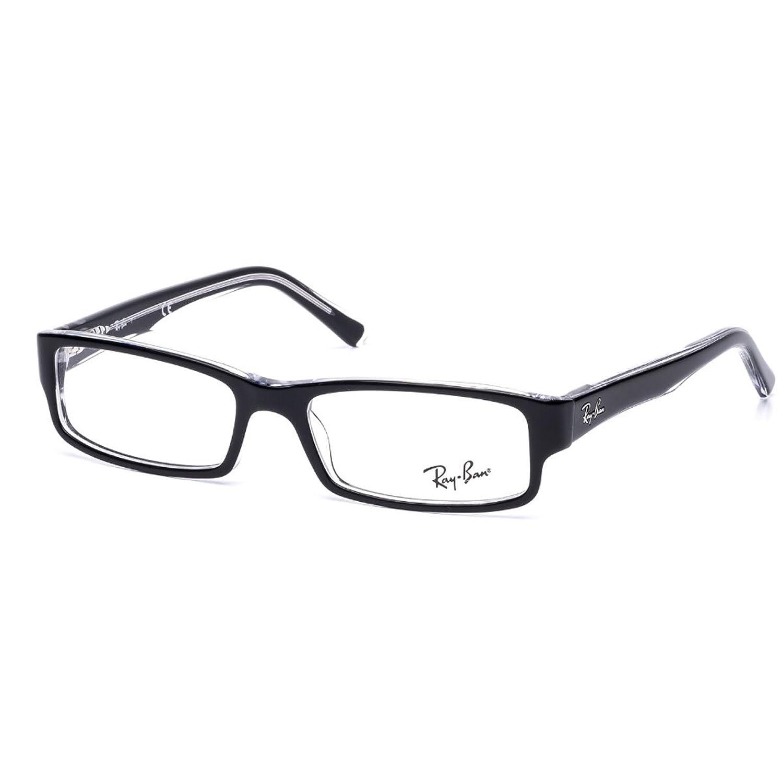 Ray Ban RX Gafas negro sobre transparente RX