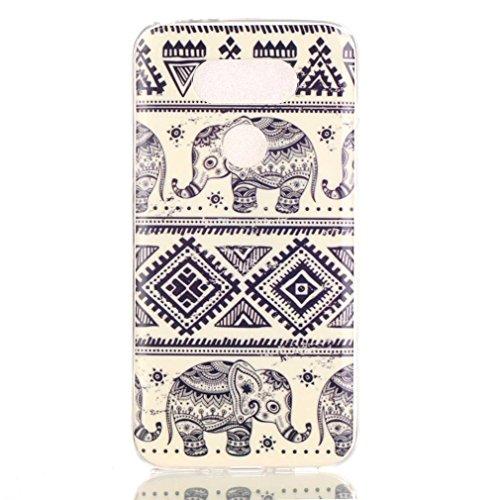 LG G5 (2016) Case, Firefish Slim Shock Absorption Slim Bumper Cover Anti-Slip Soft Silicone Protective Skin for LG G5 (2016)-Elephant