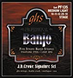 GHS Strings PF135 J.D. Crowe Signature Series (Stage), 5-String Stainless Steel Banjo Strings (.010-.020)