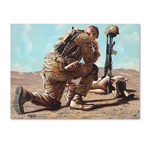 Soldiers Cross by Geno Peoples, 18x24-Inch Canvas Wall Art