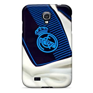 Hot Tpu Cover Case For Galaxy/ S4 Case Cover Skin - Real Madrid Badge