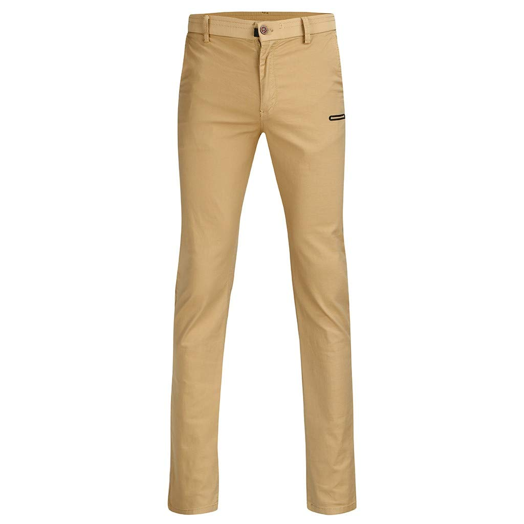 Palarn Casual Athletic Cargo Pants Clothes Fashion Mens Regular Fit Solid Color Pants Casual Trousers Work Pants