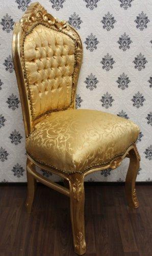 Casa Padrino Barock Esszimmer Stuhl Gold Muster Gold Barock Mobel