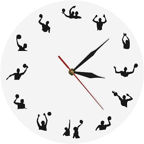 HIDFQY Waterpolo diseño Minimalista Moderno Reloj de Pared ...