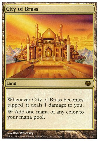 Magic: the Gathering - City of Brass - Eighth Edition - Foil