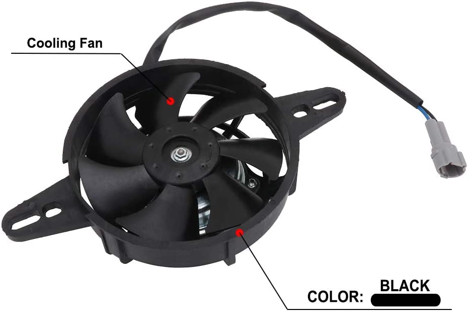 Motorcycle Radiator Fan Electric Cooling Thermal Fan Motor 12V For Chinese 200cc 250cc Quad ATV 4 Wheeler Go Kart Dirt Pit Bike UTV