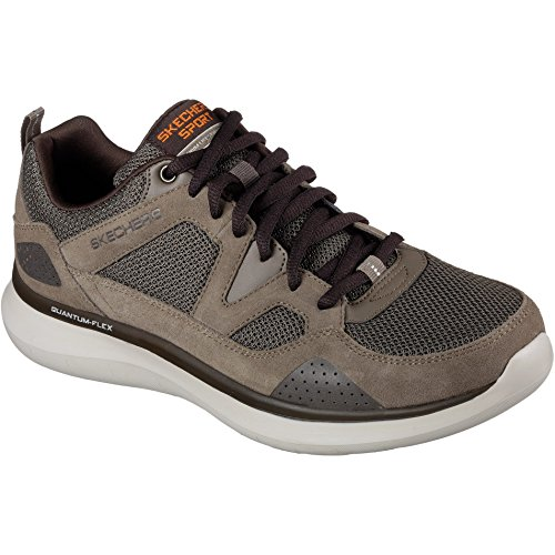 Skechers Mens Quantum Flex Country Walker Lace Up Trainers Brown