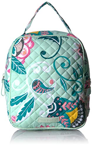 (Vera Bradley Iconic Lunch Bunch, Signature Cotton, Mint Flowers)