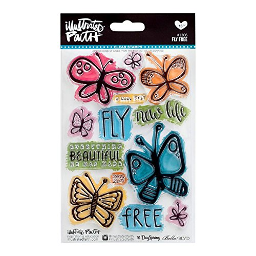Illustrated Faith - Clear Stamps - Fly Free Butterfly
