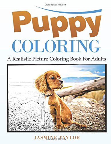 Puppy Coloring Realistic Picture Adults product image