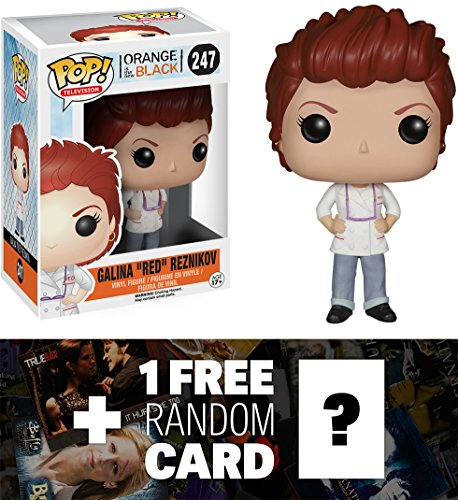 Galina Red Reznikov: Funko POP! x Orange Is the New Black Vinyl Figure + 1 FREE American TV Themed Trading Card Bundle [57916] -