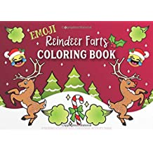 Emoji Reindeer Farts Coloring Book: Stocking Stuffer Size Christmas Activity Book