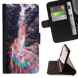 Momo Phone Case / Flip Funda de Cuero Case Cover - Colorido rocas son Rainbow - Samsung Galaxy Note 5 5th N9200