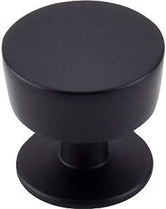 "Top Knobs M1123 Nouveau III Collection 1-3/16"" Essex Knob, Flat Black"