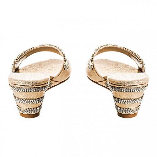 Zapatos Dorado Tacón Con Miss Diva Mujer Zxq6pZPw