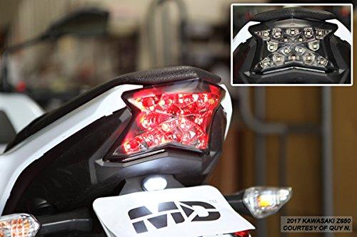 Integrated Sequential LED Tail Lights Smoke Lens for 2017-2019 Kawasaki Ninja 650 Z650 Z900