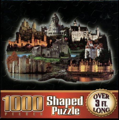 1000 Piece Shaped Puzzle - Castles