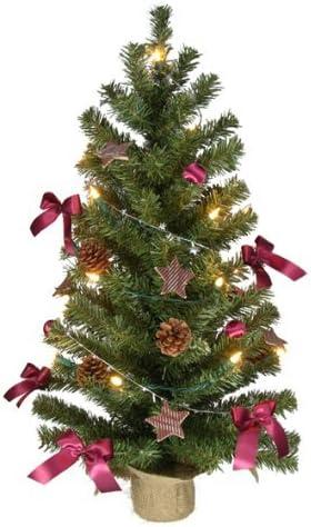 Albero Di Natale 75 Cm.Spetebo Albero Di Natale 75 Cm Completamente Decorato Con Lucine Palline Stelle Amazon It Casa E Cucina