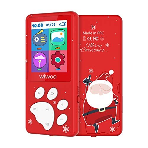 - Kids MP3 Player with FM Radio Voice Recorder, 8GB Portable Lossless Music Player, Expandable SD Card up to 128GB