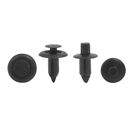 20Pcs 7mm Hole Push in Rivet Car Defender Door Weatherstrip Moulding Clip Black