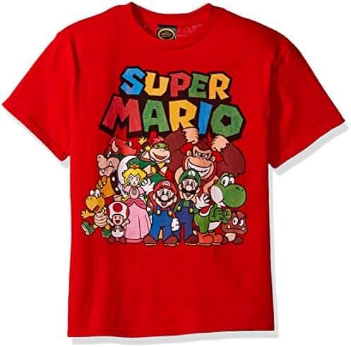 Nintendo Boys' Super Mario Character Group Shot Graphic T-Shirt
