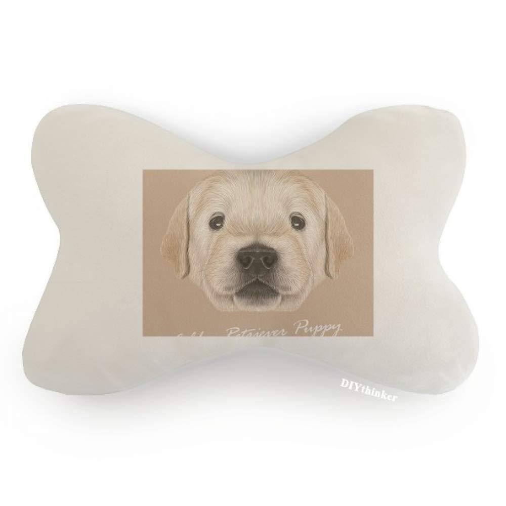 DIYthinker Trained Golden Retriever Puppy Dog Animal Car Neck Pillow Headrest Support Cushion Pad