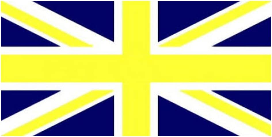 Union Jack Yellow and Blue 5/'x3/' Flag