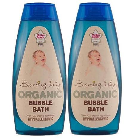 Beaming Baby orgánico certificada burbuja de baño (2 unidades)