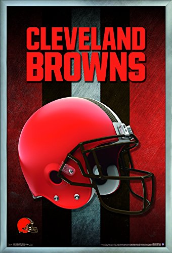 Trends International Wall Poster Cleveland Browns Helmet, 22.375 x 34 FR15441BLK22X34