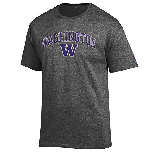 Elite Fan Shop Washington Huskies Tshirt Varsity Charcoal - XL