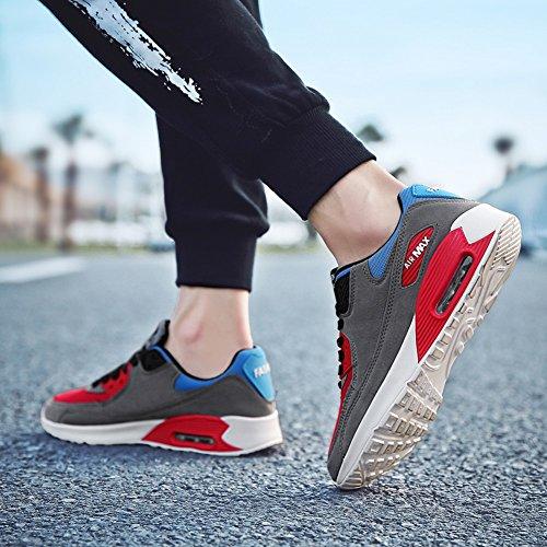 Shoes Women's Lovers and JiYe Shoes Men's Sneskers Sports Tennis Running Grey Walking Outdoor Fashion I8w8qtrE