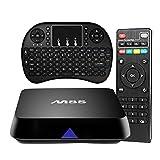 Easytone Ultra HD 4K Box Amlogic S812 Android Smart TV Box 2GB/8GB Quad Core Streaming Media Player 2.4G/5G Dual Band Wifi 64bit 3D OTT Set Top Box True 4K Playing + Mini Wireless Keyboard
