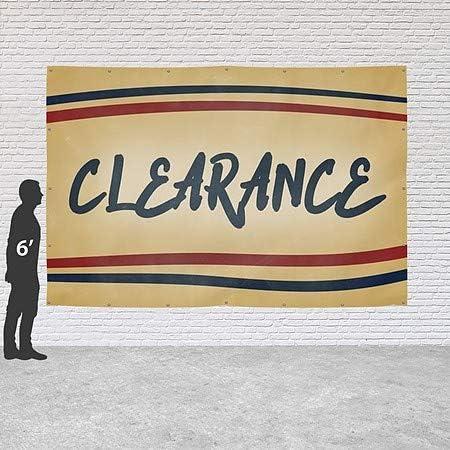 12x4 CGSignLab Seasonal Sale Modern Block Heavy-Duty Outdoor Vinyl Banner
