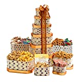 #10: Broadway Basketeers Gourmet Gift Tower with an Assortment of Chocolate, Snacks, Sweets, Cookies and Nuts