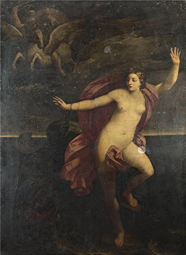 Croscill Home Fashions Iris (Oil Painting 'After Guido Reni - Perseus And Andromeda,1635-1700' 24 x 33 inch / 61 x 84 cm , on High Definition HD canvas prints is for Gifts And Bath Room, Garage And Living Room Decoration, deals)